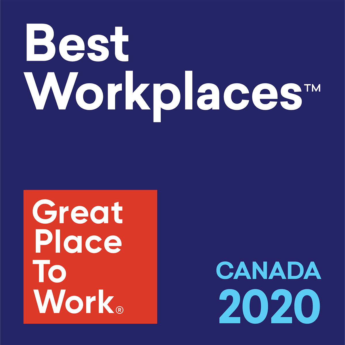 Great Place To Work 2020: 100-999 Employees