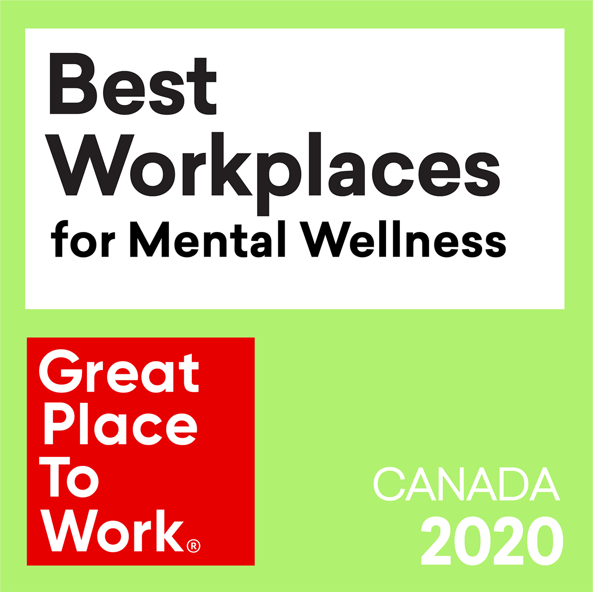 Great Place To Work 2020: Mental Wellness
