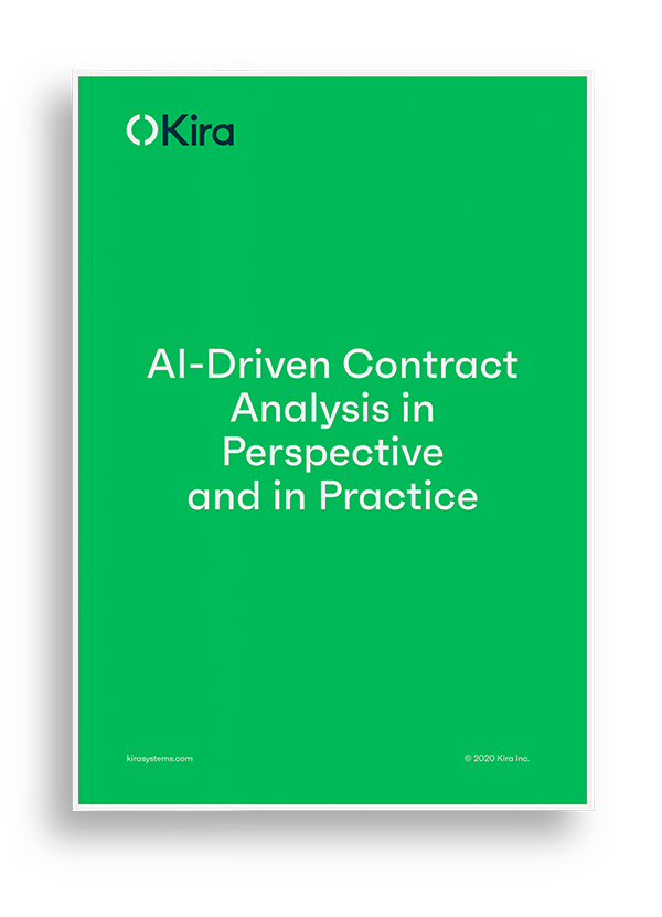 Download our ebook - AI-Driven Contract Analysis in Perspective and in Practice